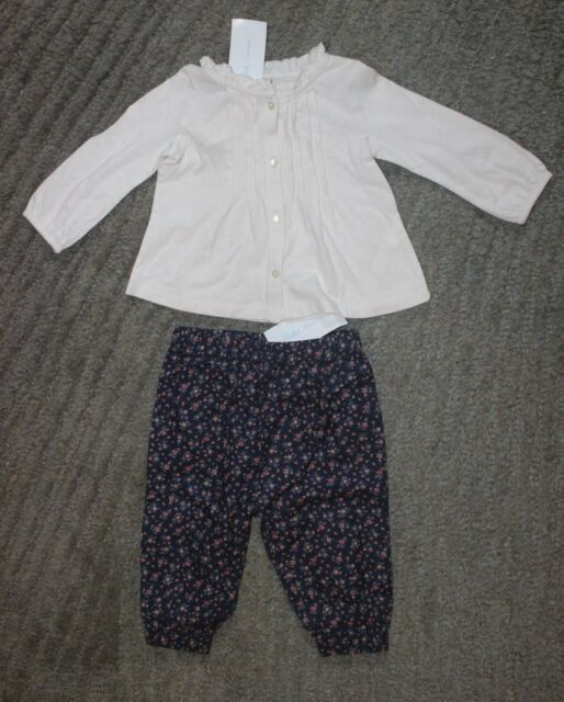 a789201074 Ralph Lauren Baby Girls 2 Piece Long Sleeve Outfit - Size 6 Months - NWT