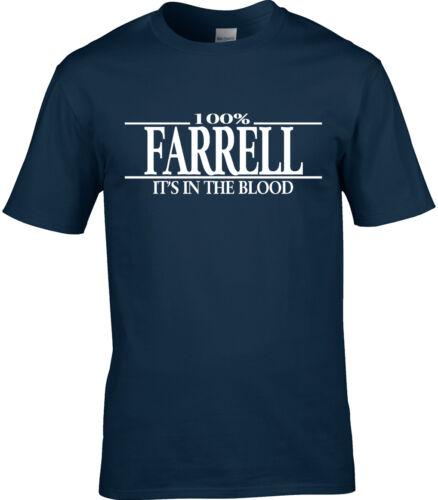 Farrell Nom T-shirt homme 100/% Farrell Retrouvailles Parti Cadeau Nom Famille