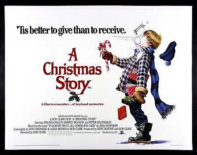 A CHRISTMAS STORY ✯ CineMasterpieces ORIGINAL UK QUAD LINEN MOVIE POSTER 1983
