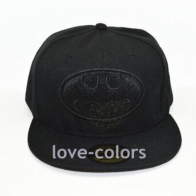 New Adjustable Snapback Batman Costume  Adult Flat baseball Hat cap Black Hiphop