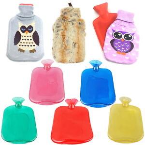 Gummi-Waermflasche-2-Liter-XL-Waermflaschen-Waerm-Flasche-farbige-Waermflasche-Bezug