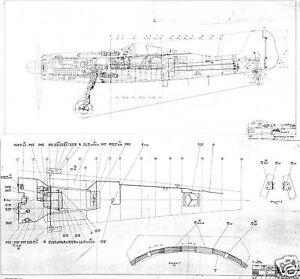 Focke wulf fw 190 blueprint plans original archive factory drawings image is loading focke wulf fw 190 blueprint plans original archive malvernweather Gallery