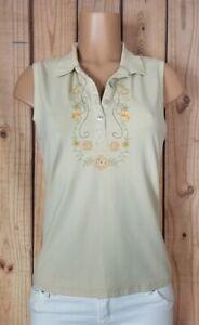 GLORIA-VANDERBILT-Womens-Size-Large-Sleeveless-Shirt-Vneck-Stitched-Front-Top