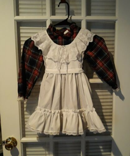 Vintage Bryan Plaid Dress with Pinafore Size 4