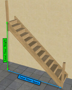 Image Is Loading Oak Staircase Gt Straight Staircase Amp Posts