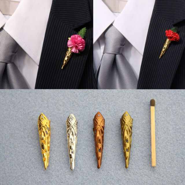 Pointed Deco Poirot Broochlapel Pin Vase For Corsagebuttonhole