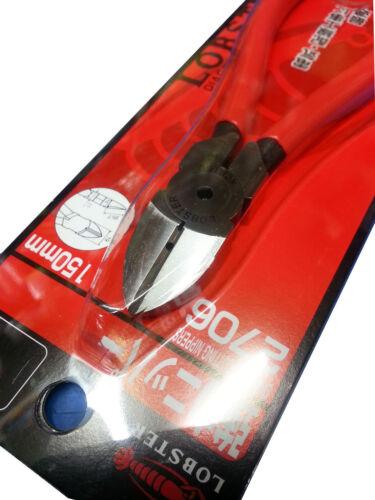 "LOBTEX LOBSTER 6/"" Diagnol Cutting Nippers 150mm  Made in JAPAN 2706"