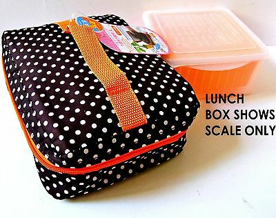 KIDS Thermal Insulated Cold Zip Bag 16x15x9cm Bento Red Check No Lunch Box