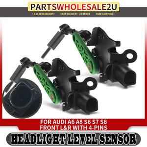 2 Headlight Level Sensor Front R&L for Audi A6 A8 S6 S7 S8 4H0941285G 4H0941286G