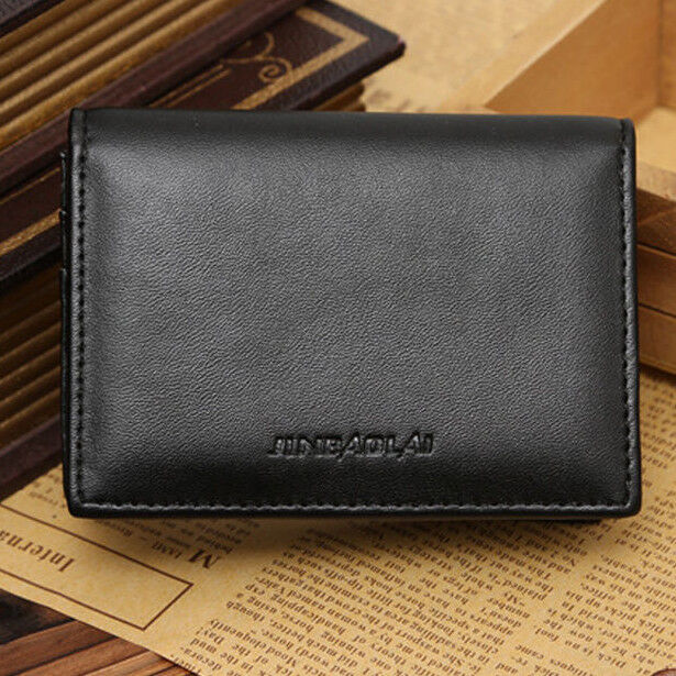 61c81a5c3d24 Genuine Leather Wallet Men's Bifold ID Credit Card Holder Mini Purse Money  Clip for sale online | eBay