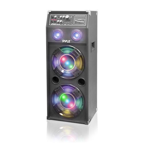 New PSUFM1045A 1000W Powered Speaker System USB/AUX/SD Card Graphic EQ DJ Lights