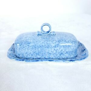 Mikasa-Country-Charm-Covered-Butter-Dish-D9525-Japan-Kentucky-Blue