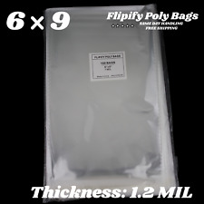 6x9 Clear Resealable Recloseable Self Adhesive Cello Lip Tape Poly Plastic Bags