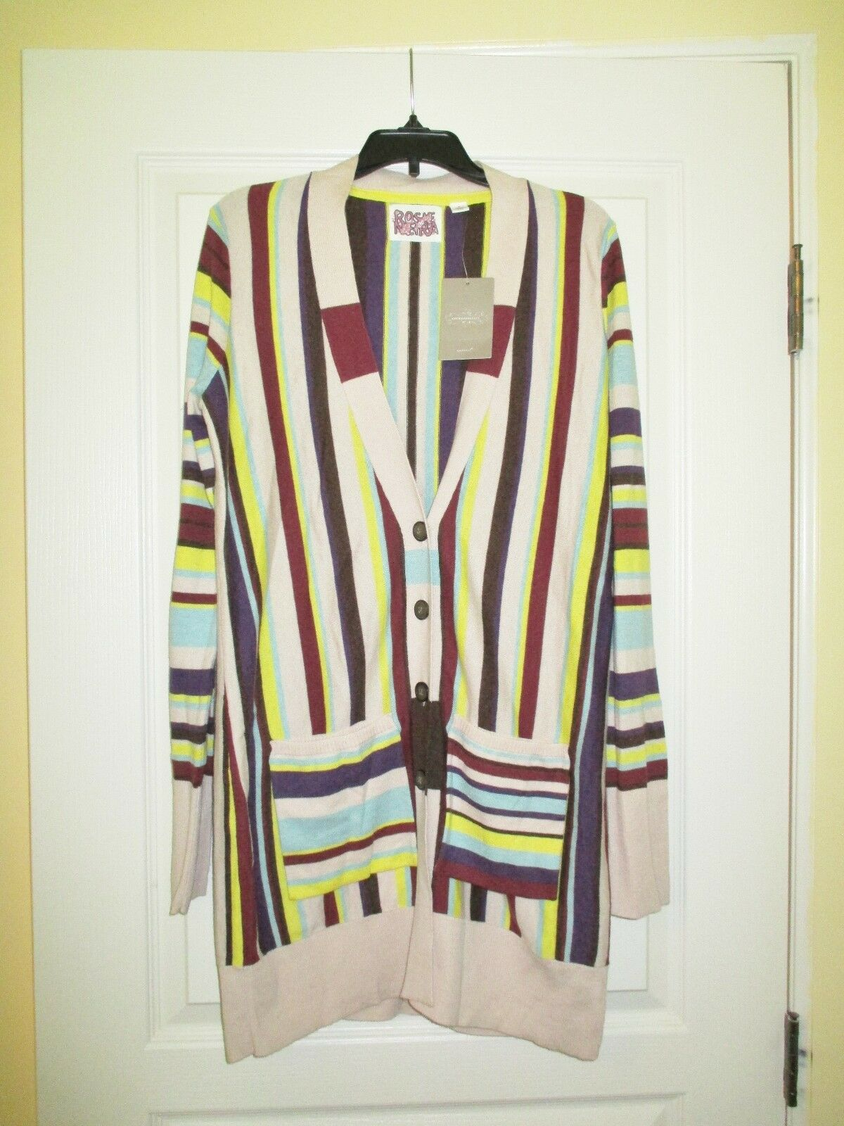 NWT  Anthropologie Rosie Neira Womens Schuylkill Sweater Cardigan Cashmere S