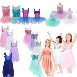 Tutu-Ballet-Leotard-Dance-Dress-Girl-Lyrical-Ballerina-Dancewear-Fairy-Costume
