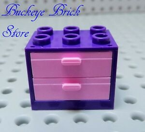Image Is Loading New Lego Purple Cupboard Dresser Nightstand 3x2x2 Pink