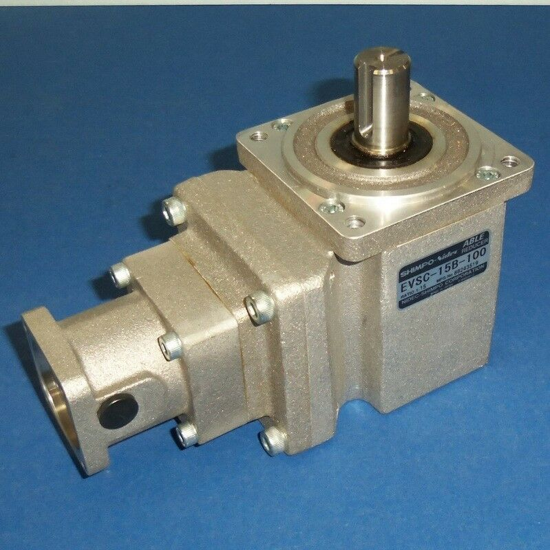 SHIMPO-Nidec 1 15 ABLE REDUCER RIGHT-ANGLE GEAR REDUCER EVSC-15B-100