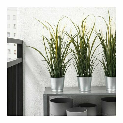 4 X IKEA  FEJKA Artificial potted plant In//outdoor decoration//grass 9cm pup10