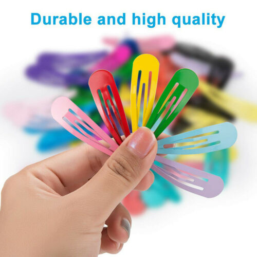 60 Pcs Barrettes Non-Slip Hair Clips 2 Inch Metal Hairpins Accessories for Kids