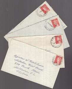 South-Australia-4-x-1966-covers-with-nice-postmarks
