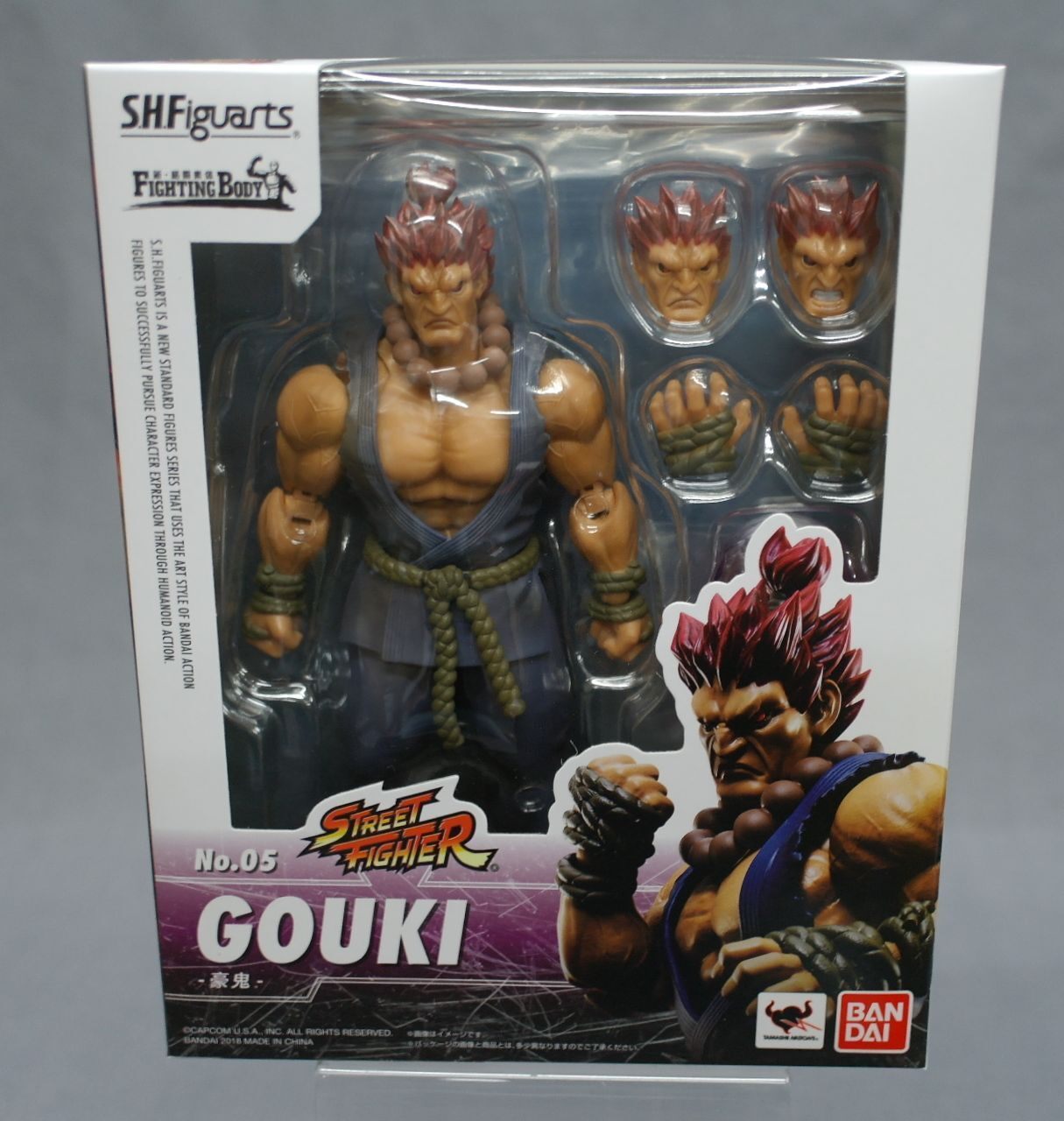 SH S.H. Figuarts Street Fighter V Akuma Gouki Bandai Japan NEW ***