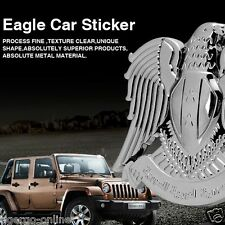 KHABRO | 3D METAL LOGO Emblem Badge Decal Sticker for CAR BIKE | VIP ANGEL EAGLE