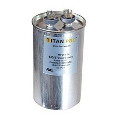 Round 70+5 MFD Titan Pro TRCFD705 Run Capacitor 440//370V