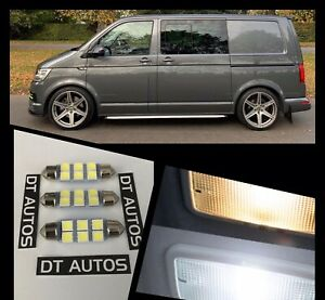 VW-Transporter-Van-T4-T5-T6-X3-Xenon-x6Led-Blanco-Interior-Bombilla-UPGRADE