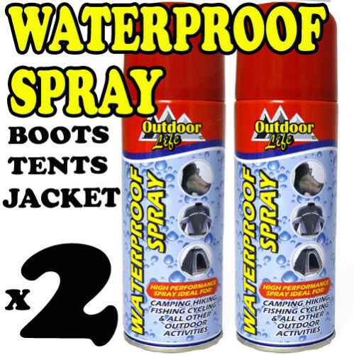 2 X Waterproof Spray for Fishing Camping Hiking Fabric Leather Cloth Shoes 400ml