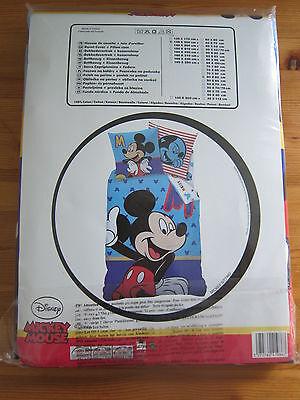Bettwäschegarnituren Original Neu 2 Tlg Kinderbettwäsche Mickey Mouse Micky Maus Disney Bettwäsche Clear-Cut-Textur