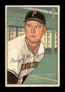 1952 Bowman Set Break # 243 George 'Red' Munger VG *OBGcards*