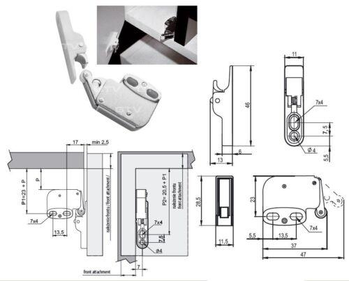 Einfacher Möbelschnäpper Türschnäpper Schnäpper Push to Open Schranktüröffner