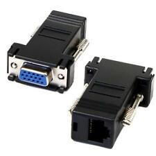 *2 x VGA Extender Female Adapter To LAN CAT5 CAT5e CAT6 RJ45 Network Cable Femal