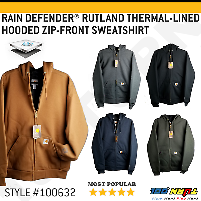 Men/'s Hooded Sweatshirt Waffle Knit Thermal Lined Zipper Front