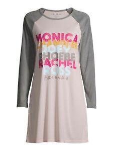 Friends TV Show Women's Sleepshirt Sleep Shirt Pajama Nightgown Size XS X Small
