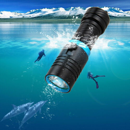 1000LM LED Scuba Diving Flashlight Submersible Torch Light Lamp Underwater 100m