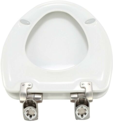 Bathroom White BEMIS Toilet Seat Bowl Lid Slow Close Elongated Closed Front