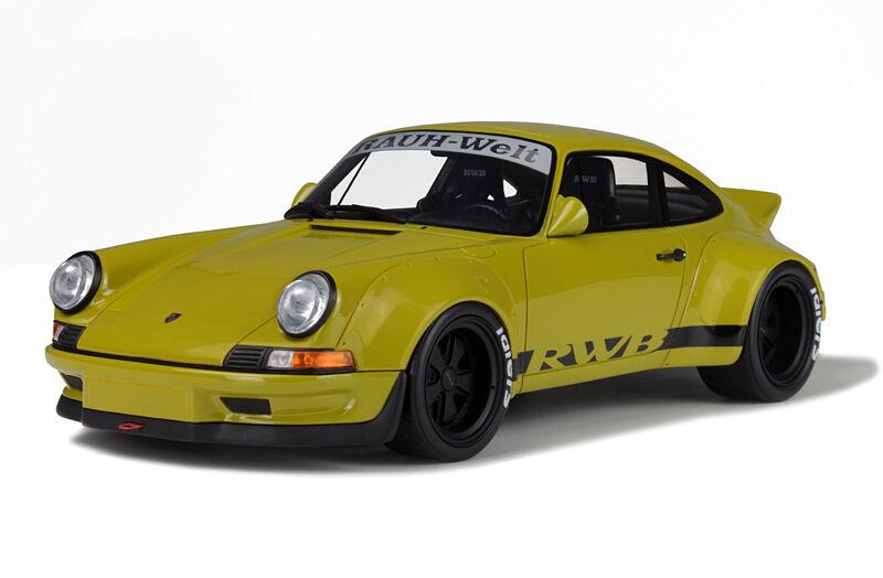 GT Spirit 1/18 Porsche RWB 911 930 Rauh-Welt-Begriff kaki verde GT120