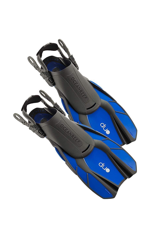 OCEAN REEF DUO Fins Open Heel blueee L XL SCUBA Diving Snorkeling Lightweight
