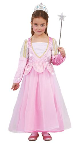 Girls Pink Princess Fairy Tale Godmother  Book Day Fancy Dress Costume Outfit