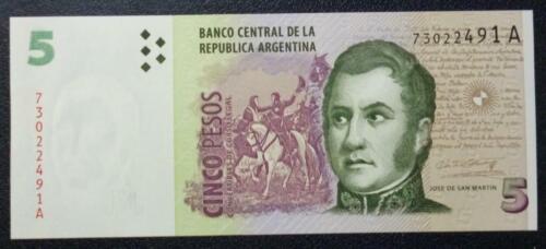 ARGENTINA BANKNOTE 5 Pesos Convertibles Pick 347 UNC 1999