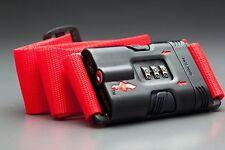 14410684eca7 Safe Skies Tsa-recognized Locking Luggage Strap Black One Size for ...