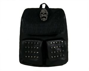 SKULL-HEAD-GOTHIC-GOTHX-TASSEL-Tie-Black-Backpack-Rucksack-School-Rock-Goth-Bag