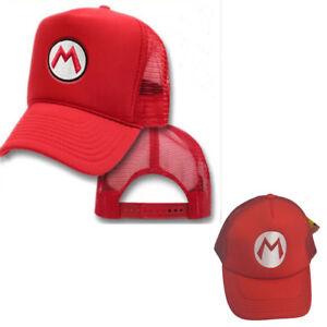 Image is loading New-Super-Mario-Bros-Costume-Hat-Cosplay-Red-  sc 1 st  eBay & New Super Mario Bros Costume Hat Cosplay Red Baseball Cap Hip-Hop ...