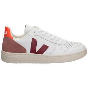 Escalofriante retirarse leopardo  Zapatillas Veja mujeres v-10 VX021944 Blanco Extra detalle logotipo de  cuero zapatos | eBay