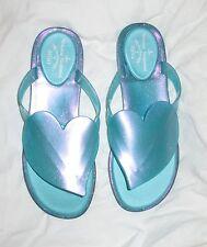 VIVIENNE WESTWOOD / MELISSA HEART FLIP FLOPS UK 5 EU 38 BNIB turquoise
