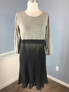 d4758ff9add Calvin Klein Gray Fit Flare sweater dress P M L Excellent Career ...