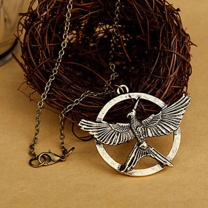 Bronze hunger games mockingjay katniss everdeen pendant charm image is loading bronze hunger games mockingjay katniss everdeen pendant charm mozeypictures Image collections