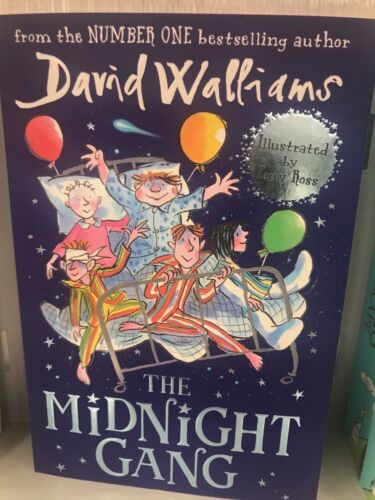 DAVID WILLIAMS LATEST BOOK,THE MIDNIGHT GANG ,BRAND NEW, CHEAPEST1 KIDS