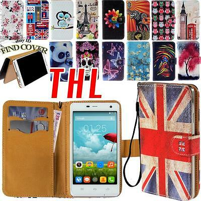 Stand Flip Card Wallet  Leather Cover Folio Case For Various THL Smartphone